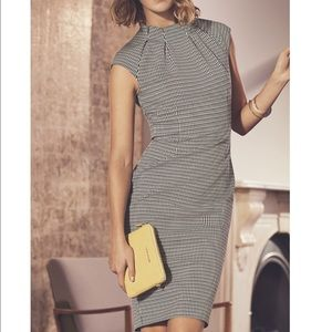 Karen Millen Micro Checked Fitted Dress